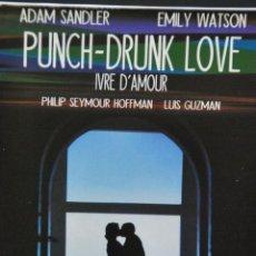 Cine: PUNCH-DRUNK LOVE - EDICION FRANCESA - 2 DVD CAJA + CAJA CARTON + LIBRO. Lote 121472363