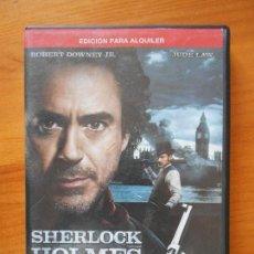 Cine: DVD SHERLOCK HOLMES - JUEGO DE SOMBRAS - EDICION DE ALQUILER - JUDE LAW - ROBERT DOWNEY JR. (U3). Lote 122013995
