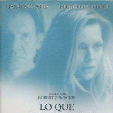 Cine: LO QUE LA VERDAD ESCONDE. DVD-3897. Lote 122014611