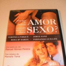Cine: DVD ¿POR QUÉ LO LLAMAN AMOR CUANDO QUIEREN DECIR SEXO? 100 MINUTOS (ESTADO NORMAL). Lote 122016999