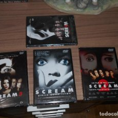 Cine: SCREAM 1 - 2 - 3 - 4 SAGA COMPLETA 4 DVD DE WES CRAVEN NUEVA PRECINTADA. Lote 136506717