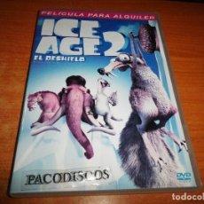 Cine: ICE AGE 2 EL DESHIELO DVD DEL AÑO 2006 ESPAÑA DIBUJOS ANIMADOS. Lote 122293171