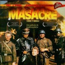 Cine: MASACRE DVD (VEN Y MIRA- ELEM KLIMOV)- KUROSAWA ESTUVO 5 MINUTOS APLAUDIÉNDOLA EN UN PASE PRIVADO. Lote 184751612