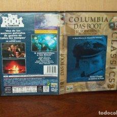 Cine: DAS BOOT (EL SUBMARINO) - DIRIGIDA POR WOLFGANG PETERSEN - DVD . Lote 123455887