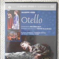 Cine: OTELLO. GIUSEPPE VERDI. DVD DE LA OPERA, CON PLACIDO DOMINGO, BARBARA FRITTOLI, LEO NUCCI Y CESARE C. Lote 124014747