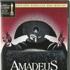 Cine: AMADEUS / EL MONTAJE DEL DIRECTOR - EDICIÓN ESPECIAL 2 DISCOS - DVD - MILOS FORMAN. Lote 125047371