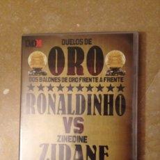 Cine: DUELOS DE ORO. RONALDINHO VS ZINEDINE ZIDANE (DVD). Lote 125493664
