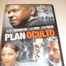Cine: DVD PLAN OCULTO. DENZEL WASHINGTON. 123 MINUTOS (ESTADO NORMAL). Lote 125821683