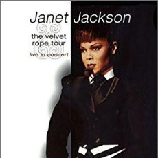 Cine: JANET JACKSON DVD. THE VELVET ROPE TOUR. LIVE IN CONCERT. Lote 126054639