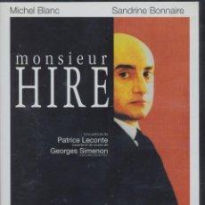 Cine: MONSIEUR HIRE DVD (PATRICE LECONTE) ..¿ERA AMOR? ¿ERA UN VOYEUR? ¿ERA UN ASESINO POTENCIAL?. Lote 126081663