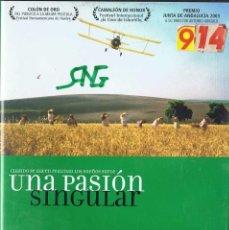 Cine: UNA PASIÓN SINGULAR. DVD. Lote 126145471