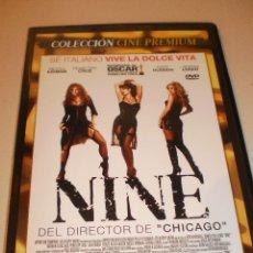 Cine: DVD NINE. NICOLE KIDMAN. PENÉLOPE CRUZ. SOPHIA LOREN. 120 MINUTOS CAJA FINA (ESTADO NORMAL). Lote 126500671