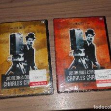 Cine: LOS MEJORES CORTOS DE CHARLES CHAPLIN VOLUMEN 1 Y 2 2 DVD NUEVA PRECINTADA. Lote 203774501