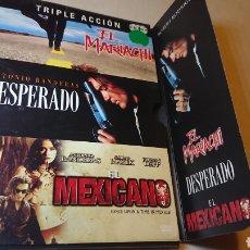 Cine: PACK DESPERADO+EL MARIACHI+EL MEXICANO. Lote 126759172