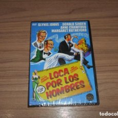 Cine: LOCA POR LOS HOMBRES DVD ANNE CRAWFORD NUEVA PRECINTADA. Lote 128675432