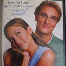 Cine: PLANES DE BODA. DVD. JENNIFER LOPEZ. MATTHEW MCCONAUGHEY.. Lote 127629515