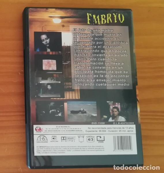 Cine: EMBRYO -DVD- RALPH NELSON, ROCK HUDSON, BARBARA CARRERA, DIANE LADD. TERROR - Foto 2 - 128128535