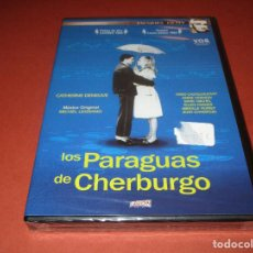 Cine: LOS PARAGUAS DE CHERBURGO - DVD - DIVISA - PRECINTADA - CATHERINE DENEUVE - JACQUES DEMY. Lote 128334023