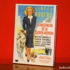Cine: LA MUCHACHA DE LA QUINTA AVENIDA GINGER ROGERS DVD NUEVO WALTER CONNOLLY. Lote 129117491