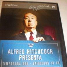 Cine: DVD ALFRED HITCHCOCK DISCO 19 EPISODIOS 73-75 75 MINUTOS CAJA FINA (PRECINTADO). Lote 129265555