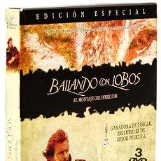 Cine: COSTNER, KEVIN BAILANDO CON LOBOS (EL MONTAJE DEL DIRECTOR) (3 DISCOS) (FILMAX) (CB). Lote 129430967