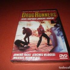 Cine: DRUG RUNNERS - DVD - EDICION RCG 103 - PRECINTADA - ¡ VIVE RAPIDO ! ¡MUERE JOVEN !. Lote 130340714