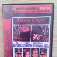 Cine: TRIPLE CROSS - LA II GUERRA MUNDIAL EN EL CINE DVD. Lote 130414982