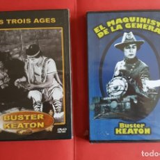 Cine: 2 DVD: BUSTER KEATON (EL MAQUINISTA DE LA GENERAL Y LAS TRES EDADES) NUEVOS. ORIGINALES. Lote 130583466