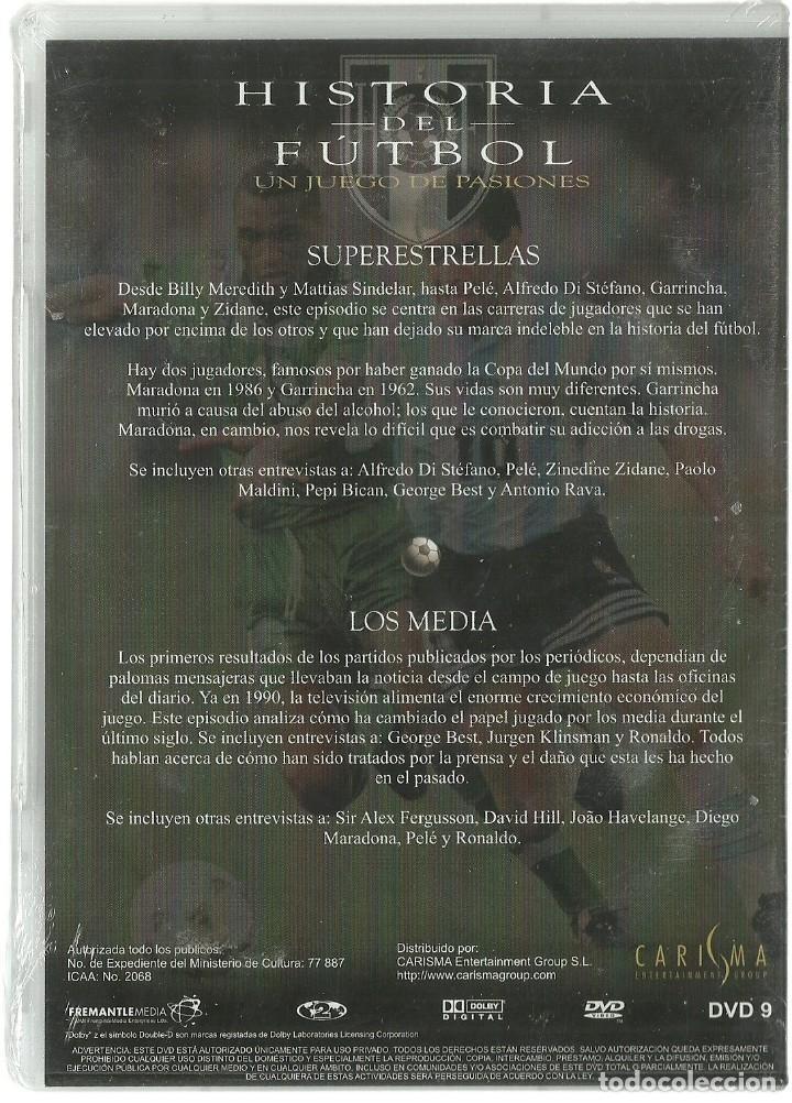 Cine: DVD CINE - HISTORIA DEL FUTBOL, SUPERESTRELLAS - LOS MEDIA - Foto 2 - 130606434