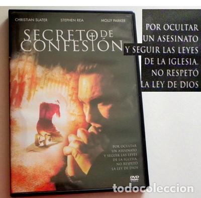 SECRETO DE CONFESIÓN DVD PELÍCULA SUSPENSE CRIMEN CHRISTIAN SLATER PARKER CURA PERIODISTA IGLESIA EX (Cine - Películas - DVD)