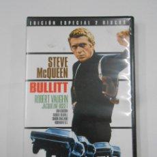 Cine: BULLIT. STEVE MCQUEEN. ROBERT VAUGHN. EDICION ESPECIAL 2 DISCOS. DVD. TDKV19. Lote 130713474