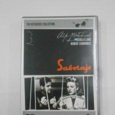 Cine: SABOTAJE. ALFRED HITCHCOCK COLLECTION. PRISCILLA LANE. ROBERT CUMMINGS. DVD. TDKV7. Lote 130721344