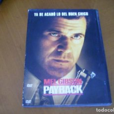 Cine: PAYBACK / MEL GIBSON ( DVD ). Lote 130849448