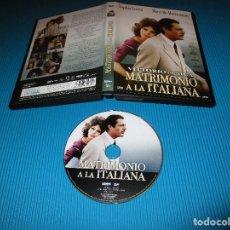 Cine: MATRIMONIO A LA ITALIANA - DVD - EDICION 1070 - LAYONS - SOPHIA LOREN - MARCELLO MASTRIOIANNI. Lote 130997740
