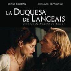 Cine: LA DUQUESA DE LANGEAIS DIRECTOR: JACQUES RIVETTE ACTORES: JEANNE BALIBAR, GUILLAUME DEPARDIEU. Lote 172876888