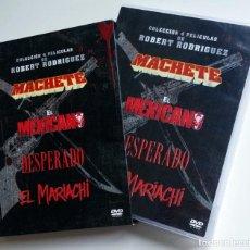 Cine: PACK DVD ROBERT RODRÍGUEZ - EL MARIACHI - DESPERADO - MACHETE - EL MEXICANO. Lote 131342814