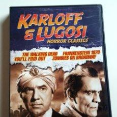 Cine: PACK DVD BELA LUGOSI BORIS KARLOFF FRANKENSTEIN HORROR CLASSICS CINE TERROR. Lote 131552466