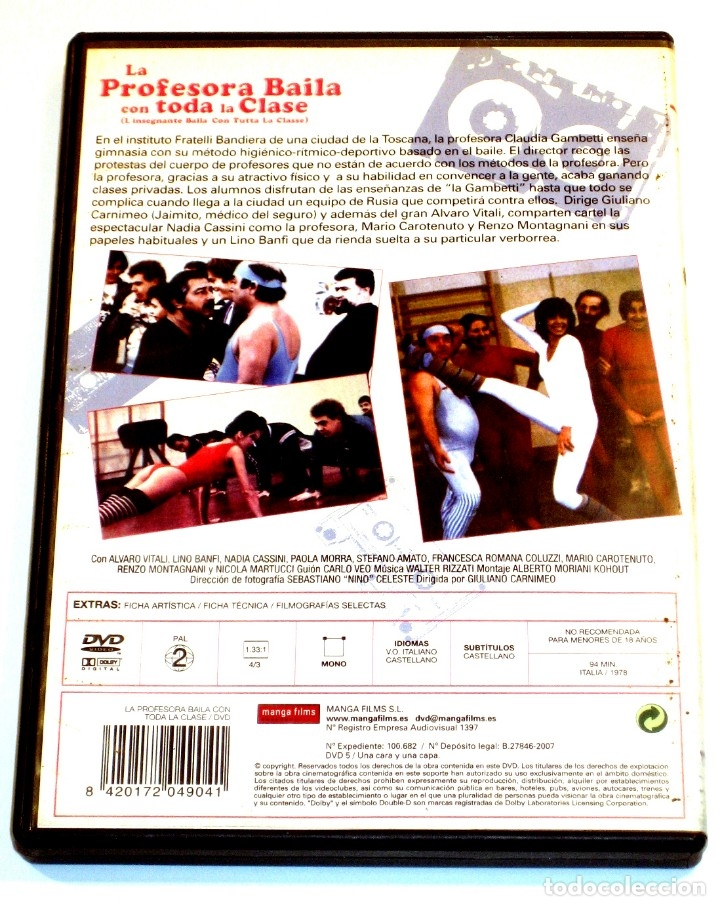 Cine: La Profesora Baila con Toda la Clase - G. Carnimeo Nadia Cassini Lino Banfi Alvaro Vitali DVD DESCAT - Foto 2 - 131664390