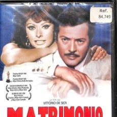 Cine: DVD MATRIMONIO A LA ITALIANA - SOPHIA LOREN, MARCELLO MASTROIANNI. Lote 131750234