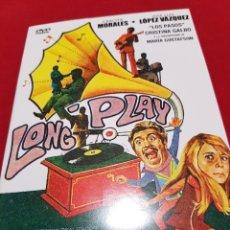 Cine: LONG PLAY. DVD. JOSE LUIS LOPEZ VÁZQUEZ Y GRACITA MORALES. Lote 131756459