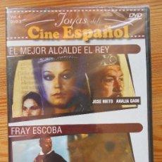 Cine: DVD EL MEJOR ALCALDE EL REY / FRAY ESCOBA - JOYAS DEL CINE ESPAÑOL - NUEVA, PRECINTADA (9Z). Lote 132010690
