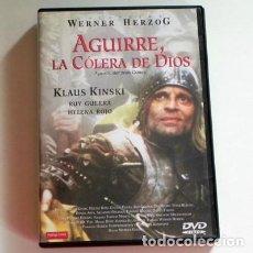 Cine: AGUIRRE LA CÓLERA DE DIOS DVD PELÍCULA - KLAUS KINSKI WERNER HERZOG VIAJE AMAZONAS LOPE AMÉRICA RÍO. Lote 132755814