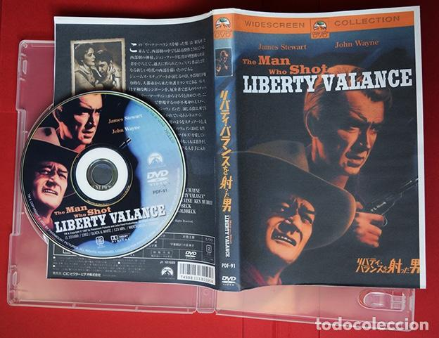 DVD JAPONÉS THE MAN WHO SHOT LIBERTY VALANCE – JAMES STEWART, JOHN WAYNE - JOHN FORD, 1962 (Cine - Películas - DVD)