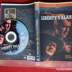 Cine: DVD JAPONÉS THE MAN WHO SHOT LIBERTY VALANCE – JAMES STEWART, JOHN WAYNE - JOHN FORD, 1962. Lote 132937478