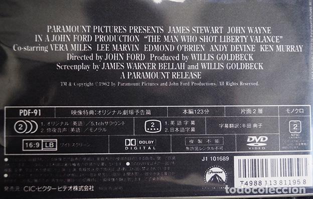 Cine: DVD japonés The Man Who Shot Liberty Valance – James Stewart, John Wayne - John Ford, 1962 - Foto 2 - 132937478
