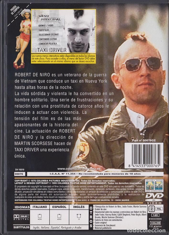 Cine: Taxi Driver (Martin Scorsese) - DVD - Foto 2 - 132954994