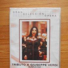 Cine: DVD TRIBUTO A GIUSEPPE VERDI - NUEVA, PRECINTADA (EF). Lote 132996682