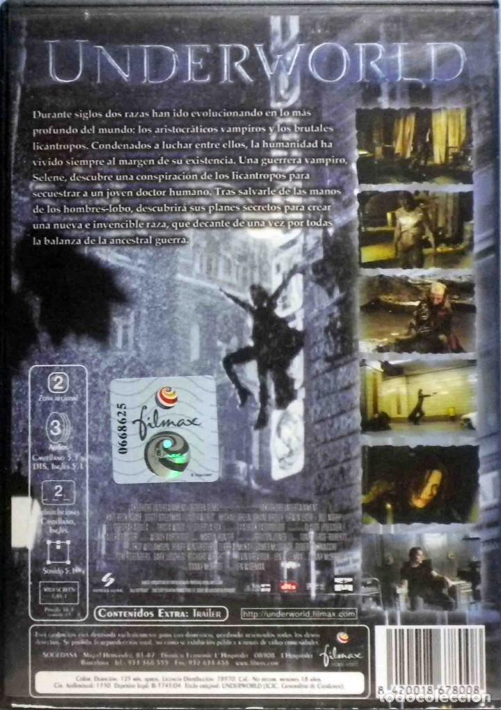 Cine: TODODVD: Underworld (Kate Beckinsale, Scott Speedman) Filmax - Foto 2 - 133679054