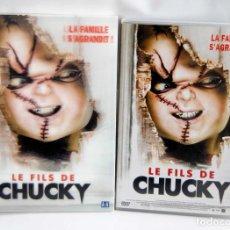 Cine: LE FILS DE CHUCKY EN FRANCES LA SEMILLA DE CHUCKY EN DVD CON SOBRECUBIERTA CON HOLOGRAMA HIJO. Lote 133750298