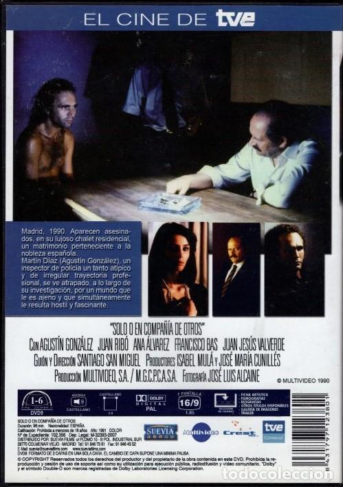 Cine: SOLO O EN COMPAÑIA DE OTROS dvd (CINE EN TVE) ...POLICÍACO...CON UN INSPECTOR ALGO ATÍPICO - Foto 2 - 133982406